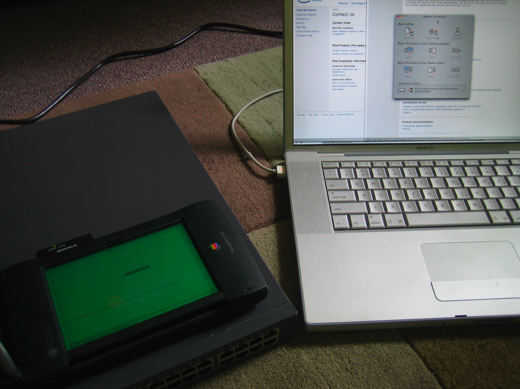 Newton MessagePad 2100 & MacBook Pro configuring an Intel Express 530T Switch