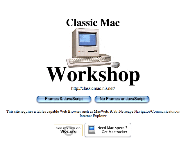 Classic Mac Workshop - Entrance